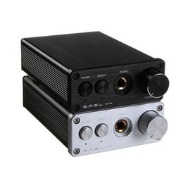 Wholesale Aluminum Amp - Freeshipping SD-793II DIR9001+PCM1793+OPA2134 24bit 96khz Coaxial Optical DAC Headphone Amplifier Amp Aluminum Enclosure Black Sliver