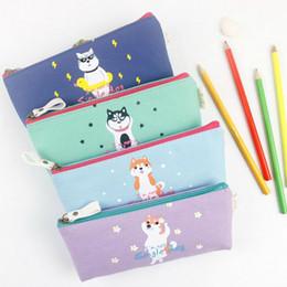 Wholesale Dog Stationery - Wholesale- Cute dog series pencil bag Kawaii animal pen & pencils bags Office escolar School stationery supplies (tt-2552)
