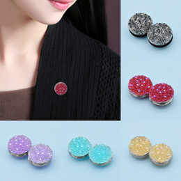 Wholesale Scarf Clasps - Wholesale- 1 Pair Magnetic Hijab Pin Headscarf Abaya Clasp Brooch Shawl Magnet Scarf Pin Fashion Scarf Buckle Accessories