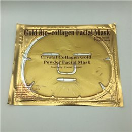 Wholesale Crystals For Beauty - 24k Gold Bio-Collagen Facial Mask Crystal Collagen Gold Powder Facial Masks Peels Skin Care For Women Beauty
