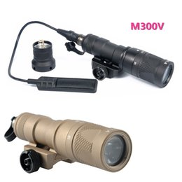 Wholesale Momentary Led - M300V Scout Light LED IR 20mm Rail Flashlight Constant Momentary Output Rifle Tactical Weapon Light for Hunting