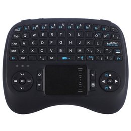 Wholesale Android Htpc - 2017 Updated Version iPazzPort Mini Wireless Gaming Keyboard with Backlit and Touchpad for Android TV Box HTPC KP-810-21TL Free DHL Shipping