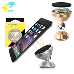 Wholesale Universal Cellphone Holder - Luxury Hight Quality 4 Magnet Metal Air Vent Magnetic Mobile Holder For All Cellphone Magnet Car Holder With package