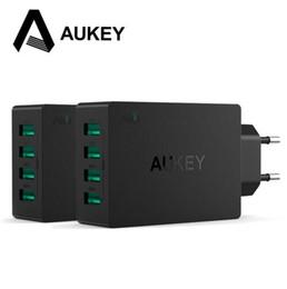 Cargador de aukey online-AUKEY Universal 4 Puertos USB Charger Travel Wall Charger Adapter para iPhone7 Samsung S6 Smart Phones / PC / Mp3 USB dispositivos móviles