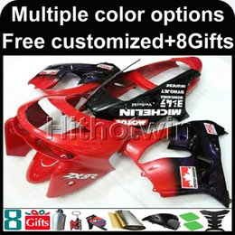 Wholesale Kawasaki Zx9r - 23colors+8Gifts red kit motorcycle cowl for Kawasaki ZX9R 1998-1999 ZX-9R 98 99 ABS Plastic Fairing