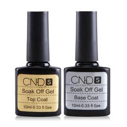 Wholesale Professional Manicure Gel - Wholesale-2 Pcs Best Quality 10 ML Professional Top Coat and Base Coat Long lasting Soak Off Varnish Manicure Nail Gel Valid 5 Years MM84