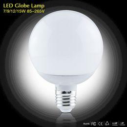 Wholesale E27 Led Bulb 9w Lumen - 2017 New 1Pcs High Lumen 3W 5W 7W 9W 12W 15W E27 220V 85-265V LED Corn lamp Chandelier 5730SMD Bubble Ball Bulb Spotlight Indoor lighting
