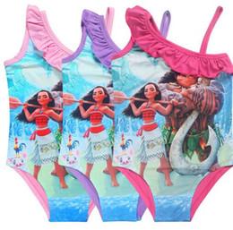 Wholesale Toddler Piece Bikini - 2017 newest hot Troll Girls dress baby Girl Bikini one piece Swim Bow wear Kids Bathing Children dress Swimsuits Toddler