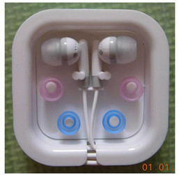 Wholesale Hot Candy Mp3 - hot sale Fashion Ear Buds On-ear Earphone Headphone MP3 MP4 FM Phone Gift Earphone Candy Color Small Earphone