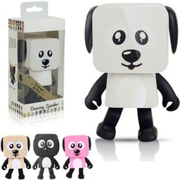 Wholesale Active Walking - Dancing Dog Bluetooth Speakers Portable Mini Electronic Robot Stereo Speakers Electronic Walking Toys With Music Wireless Speaker Toy