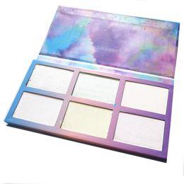 Wholesale Aurora Kit - Aurora Glow Kit Palette Shimmer Highlighter Wet Soft Powder Cream Illuminate Face Contour Rainbow Star Box Make Up Maquiagem