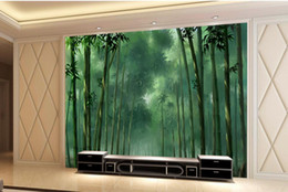 Wholesale Bamboo Forest Painting - 3d wallpaper mural custom wallpapers for living room Bamboo forest painting background wall