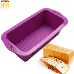 Wholesale Silicone Loaf Moulds - Baking Tools Cake Mould Silicon Toast Box Rectangular Shape Loaf Cake Mold DIY Bread Baking Tools Crafts Mould Mixed Color