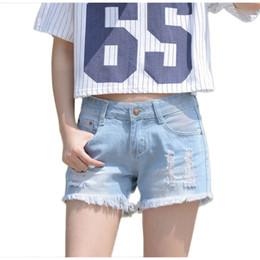 Wholesale Denim Skirts For Women - Women Denim Shorts Hole Jeans Loose Cotton Light Blue Booty Casual Shorts Skirt Jeans Feminino Short For Girls SH104