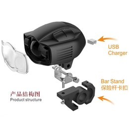 LED Motocicleta Farol Com USB Fuction RTD E03C 30000 HRS Vida útil CE C9 ROHS Certificação material De Alumínio 2000lm Lumens 20 W Poder
