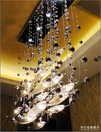 Wholesale Cognac Chandelier - Modern Glass Fly Fish Ceiling Light Swarm Fishes Chandelier Living Room Light Crystal Cognac Color Fishes Ceiling Lamps LLFA21