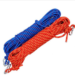 Wholesale Canyoneering Ropes - 12mm outdoor equipment climbing rope lifeline escape climbing static climbing downhill rope 100-2000m safety rope camping