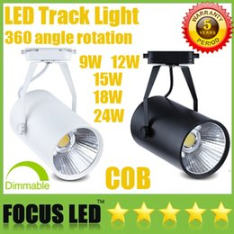 Wholesale Track Light Dimmable - Led Track Light COB 9W 12W 15W 18W 24W Dimmable LED Downlights CRI>88 Fixture Ceiling Spot Lights Lamp Warm Cool Natural White CSA SAA UL CE