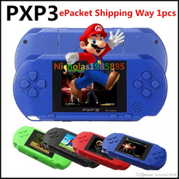 Wholesale Lcd Mini Video Game - ePacket 1pcs Game Player PXP3(16Bit) 2.5 Inch LCD Screen Handheld Video Game Player Console 5 Colors Mini Portable Game