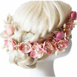 Wholesale Dress Bouquet - 1-Set wedding hair pieces bride wedding bouquets bridal hair accessory bridal headdress for bride dress shell & flower headdress accessories