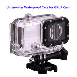 Wholesale Mini Dvr Case - Wholesale- Free shipping!! Original Underwater Waterproof Case for GITUP Diving 30M Waterproof extreme Helmet Cam Mini Camcorder DVR