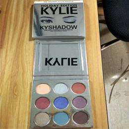 Wholesale Hot Dropshipping - In stock! Hot Holiday edition Kyshadow Palette And Kyshadow Palette Burgundy Eyeshadow 9 Colors Eye Shadow Palette dropshipping