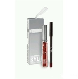 Wholesale Christmas Package Holidays - Christmas Gift Kylie Cosmetics Gloss Holiday Edition Lip Gloss Single Jolly Naughty Dancer in limited edition silver packaging top quality