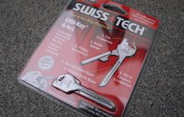 Wholesale Swiss Tech Tools Wholesale - High quality SWISS+TECH 6in1 Utill-key mini multitool keyring pocket knife folding knives 5pcs free shipping