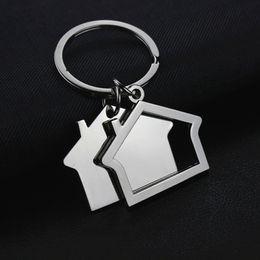 Wholesale Ring Models For Women - Small House Model Metal Keychain Keyring Bag Pendant Cute Car key chain ring holder Jewelry for Men Women