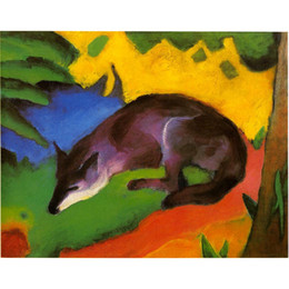 Wholesale Marc Painting - Canvas art Blue Fox Franz Marc Paintings oil reproduction High quality Hand Painted