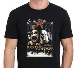 Wholesale White Zombie Shirt - 2017 New T Shirt O-Neck Men House Of 1000 Corpses T-Shirt *Rob Zombie* Design Short Sleeve T Shirts