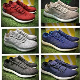 Wholesale Pure Leather Shoes For Men - Pure BOOST LTD 2017 Men's Running Shoes PureBOOST Size 40-45 Men Nmd R1 Running Shoes For Men Boots Ultra Boost Shoes Sneakers