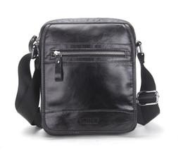 Wholesale Open Small Business - New Collection 2017 Fashion Men Bags Genuine Leather Messenger Bag High Quality Man Brand Business Bag Men's Handbag