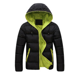 Wholesale Korean Fashion Hooded Parka - Wholesale- Hot Asian Size Winter Korean Style Casual Men Parka Hooded Thick Warm Zipper Slim Down Coats And Jacket Outwear Male Clothings