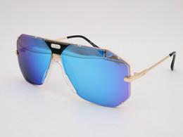 Wholesale Germany Green - Plank Eyewear CAZALS 905 LEGENDS VINTAGE SUNGLASSES Blue Gold Women Men Large Frames Cazals Sunglasses Germany rare 80s unisex sunglasses