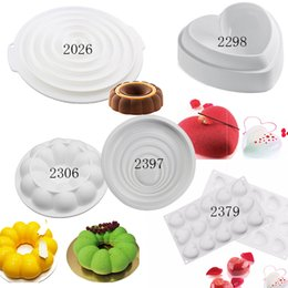 Wholesale Bakeware Silicone Moulds - Silicone Love Heart 3d Cake Mold Amore Baking Pastry Molds Chocolate Mousse Mould Cake decorating Tools bakeware Pan