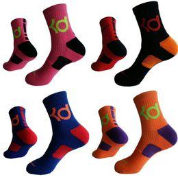 Wholesale Huf Socks Soccer - Mens Brand New Cotton Thick Bottom Towel Deodorant Movement Male Socks High KD Elite Basketball Football Soccer Sports Crew Sock Terry Socks