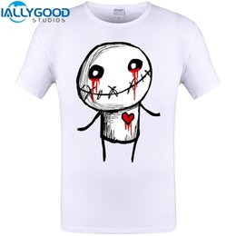 Wholesale Cheapest Men S Clothing - Bleeding Love Blood Print Men Fashion T Shirt Funny Design Tops Summer Short Sleeve Tee Shirts Brand Clothing Cheapest Mens Tops