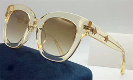 Wholesale Diamond Points - New fashion women sunglasses square frame bee series summer style top quality With five-pointed star diamond legs with original box 0208s