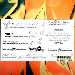 Wholesale Word Wall Art Wholesaler - Wholesale- Wise Love Poems Words Temporary Body Art Flash Tattoo Sticker 10*17cm Waterproof Henna Fake Tato Car Styling Wall Tattoo Sticker
