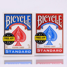 Wholesale Red Blue Deck - Blue Red Bicycle Poker USA Original Bicycle Playing Cards Rider Back Standard Decks Cards With Free Shipping
