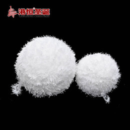Wholesale Hanging Foam Balls - Wholesale- Christmas Tree Hanging Snowballs Diameter 15-25cm Decorations White Foam Ball Party Ornament XmasB100