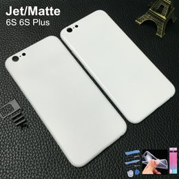 Wholesale Housing Chassis - Jet White Silver Black Housing For Iphone 6s housing Back Metal Chassis Frame Replacement Cover With Logo text For Iphone 6s Plus