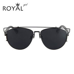 2f4819990 2019 óculos clássicos da menina Atacado-ROYAL GIRL alta qualidade mulheres  óculos de sol Designer
