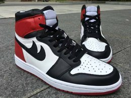 Wholesale Hot Cork - Hot sales Retro 1 OG High Black Toe For Mens Basketball Shoes running shoes drop shipping with box ships out within 48 Hours