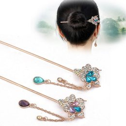 Wholesale Order Glasses China - Good A++ New step tramp glass hair ornaments bridal hair headdress women hairpin hairpin FZ049 mix order 20 pieces a lot