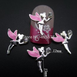 Wholesale 3d fairy stickers - Wholesale- 10pcs 3d alloy fairy design glitter for nail decoration sticker on nails jewelry YNS081