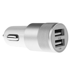 Wholesale Fast Car Styling - Wholesale- 2.1A 3.11A Aluminum ABS Dual 2 Port Universal Micro USB super fast Car Charger For Mobile Phones,Tablet PC,car styling