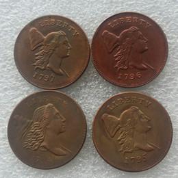 Wholesale Copper Rooms - A set of (1794 1795 1796 1797) 4pcs LIBERTY CAP HALF CENT - HEAD RIGHT coins copy 100% Copper High Quality