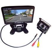 """Monitor de camara para buses online-7 """"kit de visión trasera del monitor LCD del coche + 18 LED IR cámara inversa para el autobús largo del camión impermeable envío gratis"""